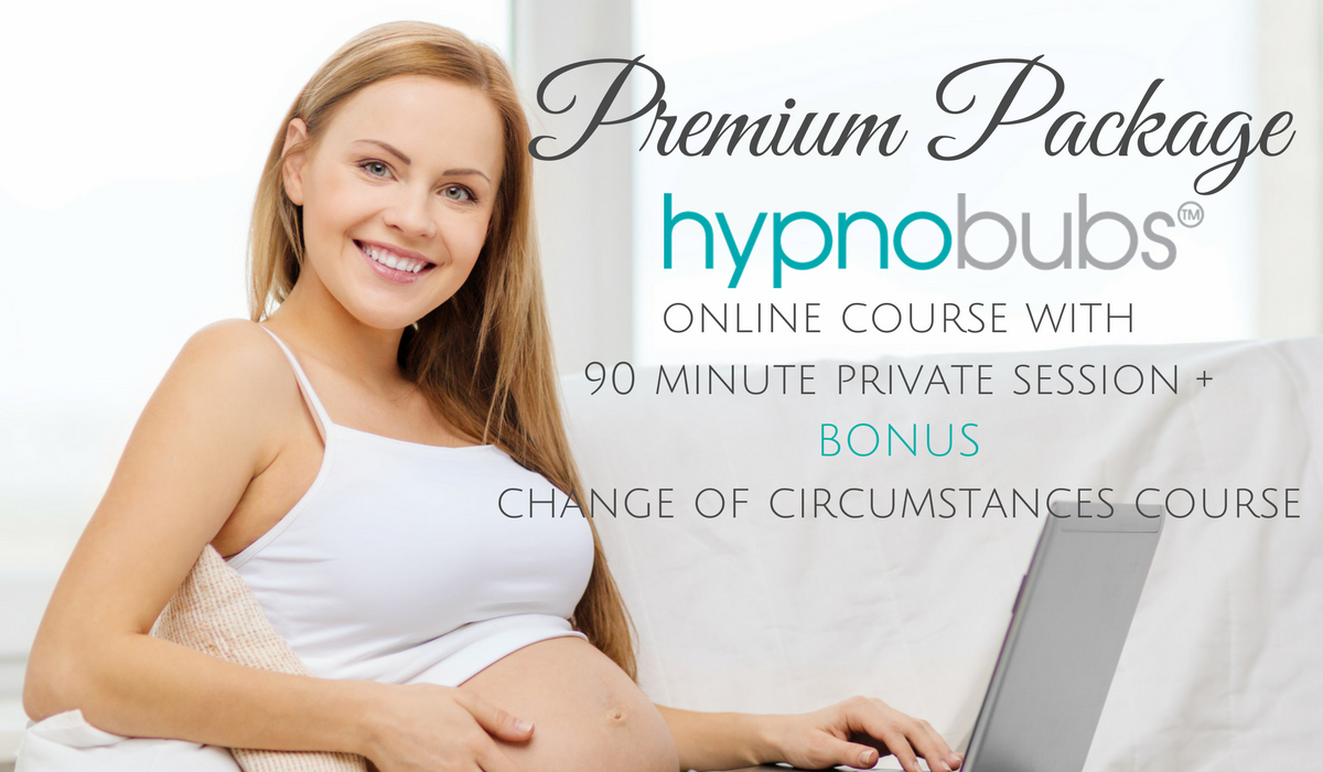 Premium Package - This option covers everything! You will have BOTH the Hypnobubs Hypnobirthing online course PLUS Change of Circumstances course PLUS a 90 mins Skype/Phone session with a certified Hypnobubs Practitioner. Take your confidence to the next level!includes:• comprehensive video sessions with Melissa Spilsted including step-by-step tuition and practical exercises (for you and your birth partner) for the Hypnobubs Online course PLUS the Special Circumstances course• 8 X long play mp3 tracks•2 x eBooks - 'the little book of hypnobirthing' and 'the positive cesarean birth'•Downloadable resources & worksheets•Online support