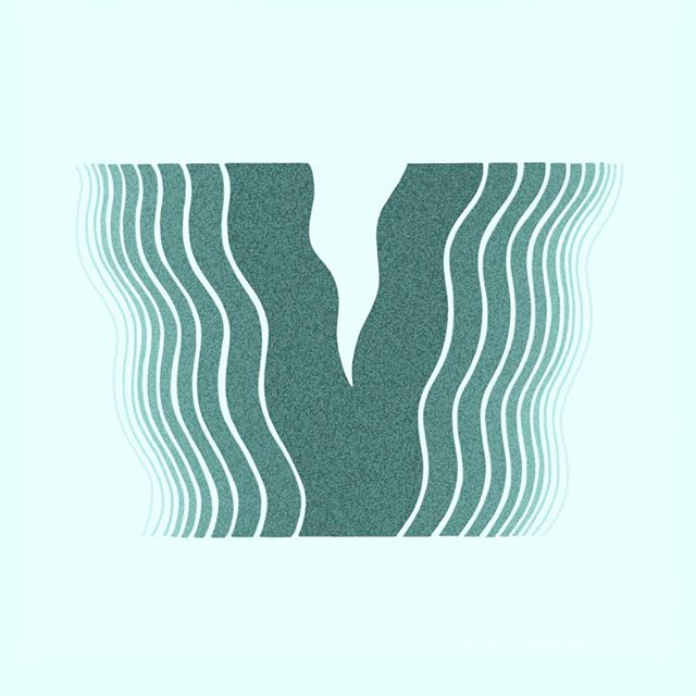V for @36daysoftype . . . #36daysoftype06 #36daysoftype #36days_v #typeeverything #illustration #childrensillustration #teal #illo #illustrationccc #typespire #favoritype #procreate #handlettering #procreatelettering #ipadproart #process #waves #river #chicagoartist #alphabet #v #lettering #handdrawnfont