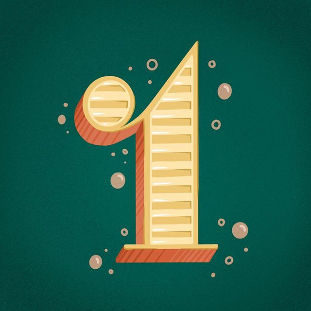 Swipe to see the process video for this number 1, things don't always go according to plan... I pictured something completely different and ended up hating it and redoing the entire number. But that's okay! Sometimes we just need to take a step away from our work and think it over and come back to it. @36daysoftype . . . #handdrawnfont #womenofillustration #36daysoftype #36daysoftype06 #36days_1 #illo #illustration #illustrationccc #typeeverything #typespire #procreatelettering #handlettering #ipadproart #procreate #process #chicagoartist #favoritype #3dlettering #alphabet #numbers #kidlit #childrensillustrations
