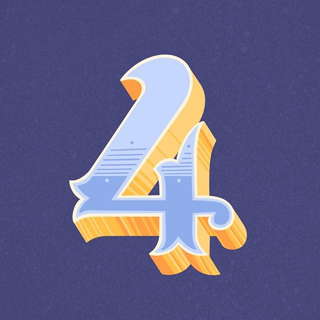 4 for @36daysoftype . . . #handdrawnfont #womenofillustration #36daysoftype #36daysoftype06 #typeeverything #goodtype #favoritype #typespire #handlettering #procreate #procreatelettering #36days_4 #alphabet #numbers #process
