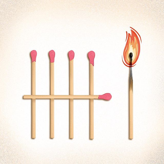 6 for @36daysoftype . . . . #womenofillustration #handdrawnfont #36daysoftype #36daysoftype06 #typeeverything #favoritype #procreate #procreatelettering #matches #alphabet #illo #illustrator #illustration #illustrationccc #illustratorsoninstagram #womenwhodraw #chicagoartist #goodtype #handlettering