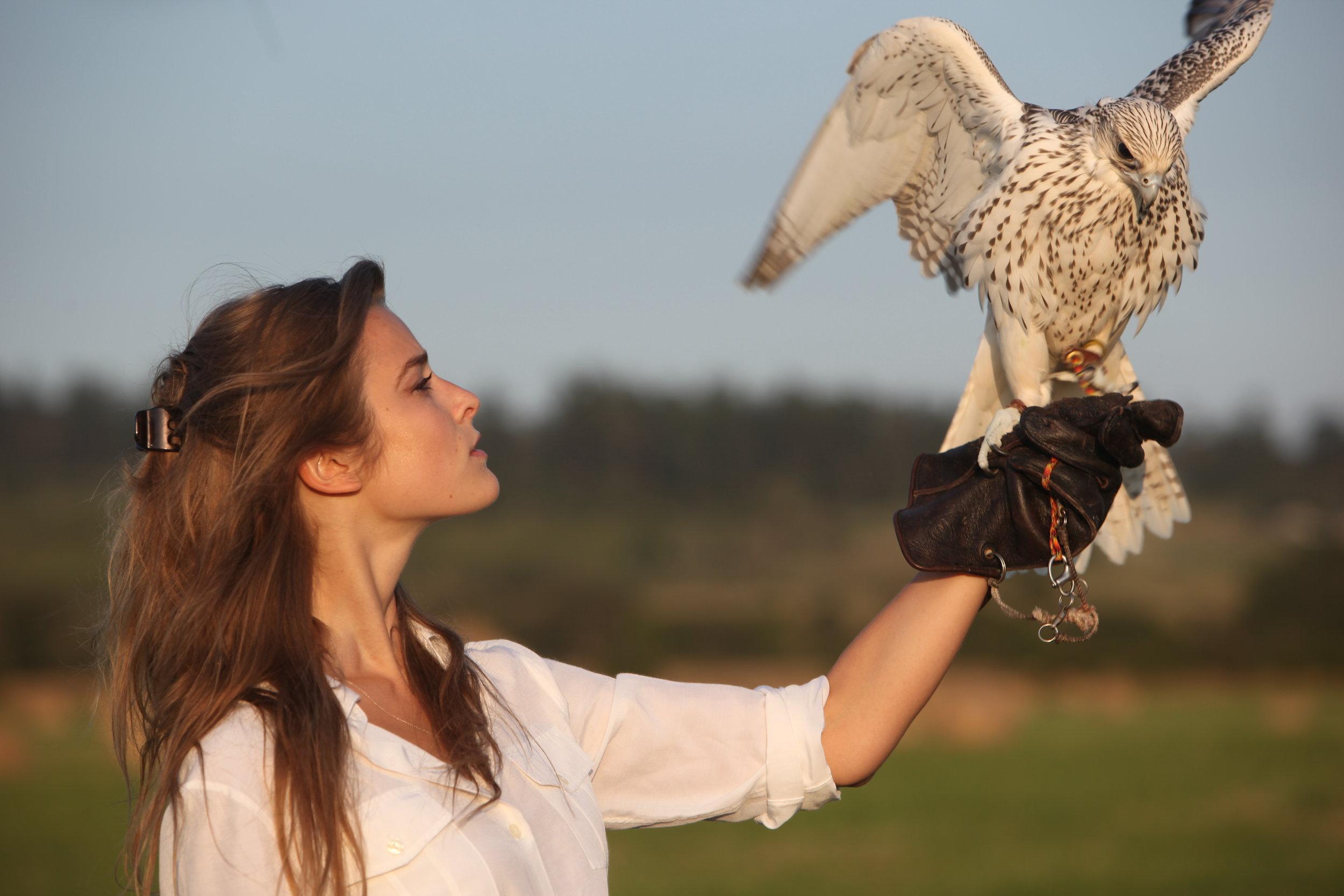 Emree & her Falcon