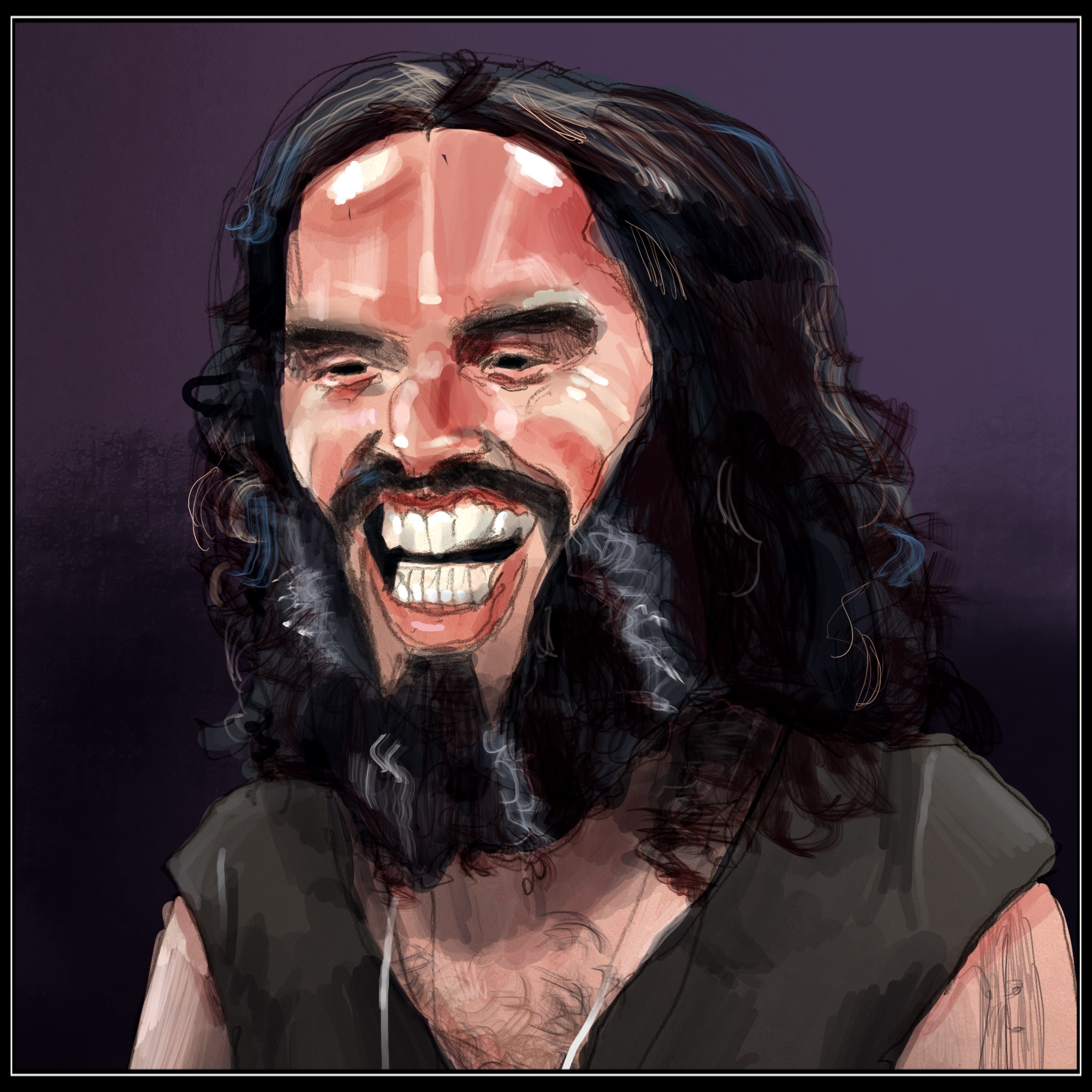 Russell Brand; English comedian, actor, radio host, author, and activist.