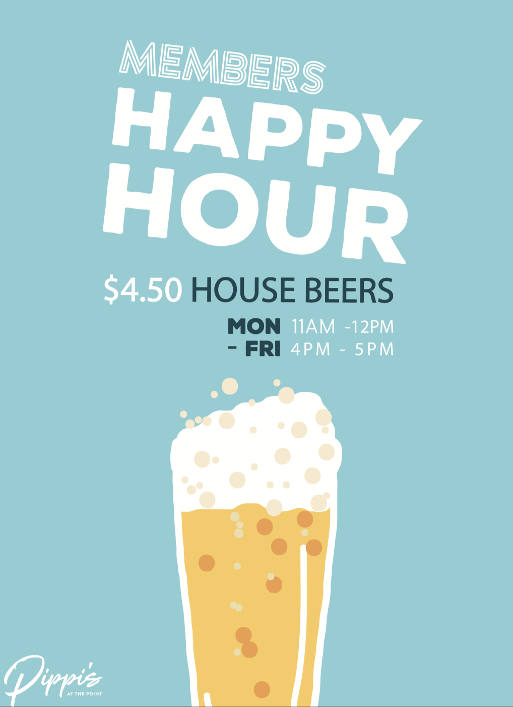 HAPPY HOUR POSTER - PIPPIS