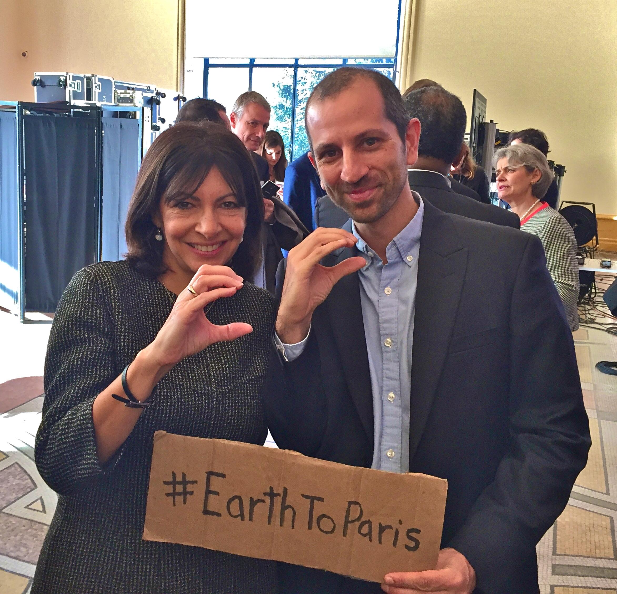 Filmmaker Nirvan Mullick & Mayor Anne Hidalgo Of Paris.JPG