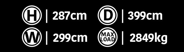 10'  Deployable  Locker Dimensions