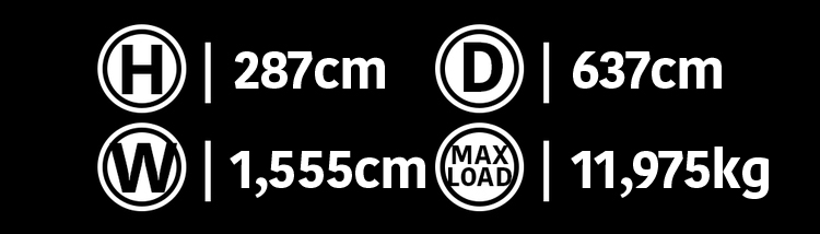 40'  Deployable  Locker Dimensions
