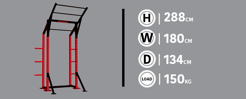 Half Rack Diagram & Dimensions