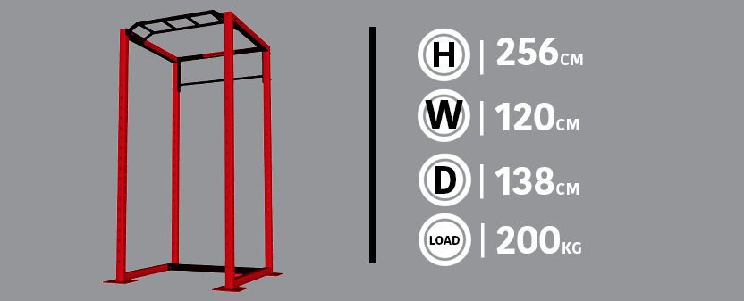 Power Rack Example and Dimensions