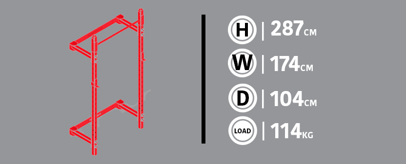 Wall-Mounted Diagram & Dimensions