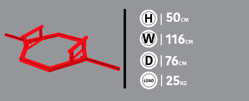 Dual Grip Shrug Bar Diagram & Dimensions