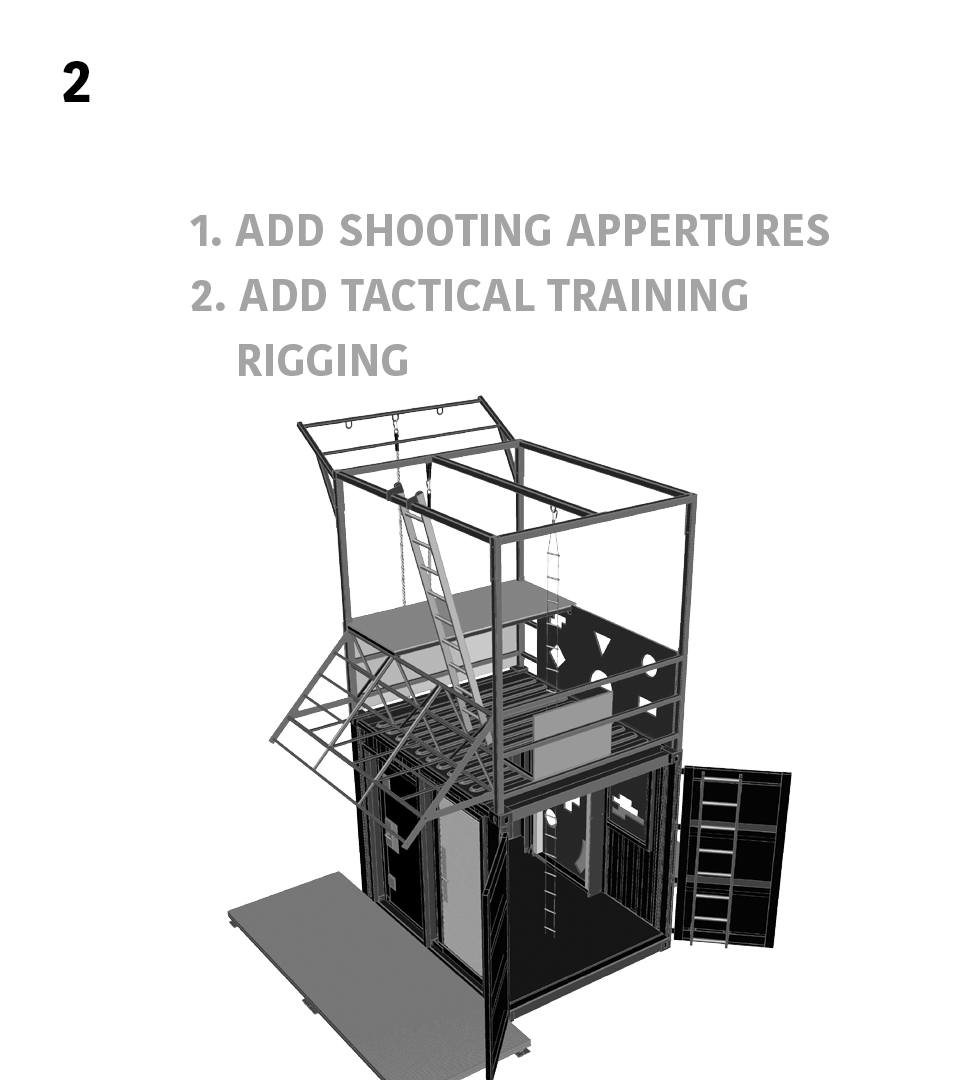 2.) Breaching & Shooting- 1. Add Shooting Appertures 2. Add Tactical Training Rigging