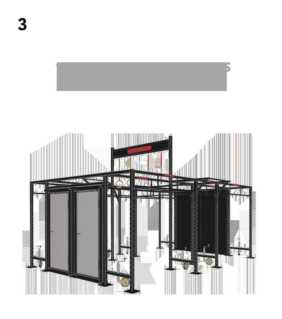 3.) Advanced Breaching- 1. Custom Branded Walls, 2. Add Breaching Doors