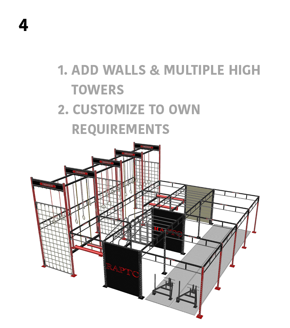 4.) Larger Scale- 1. Add Walls & Multiple High Towers, 2. Customize To Own Requirements