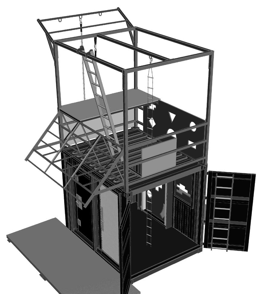 Alpha 10'Locker Breaching & Shooting Diagram