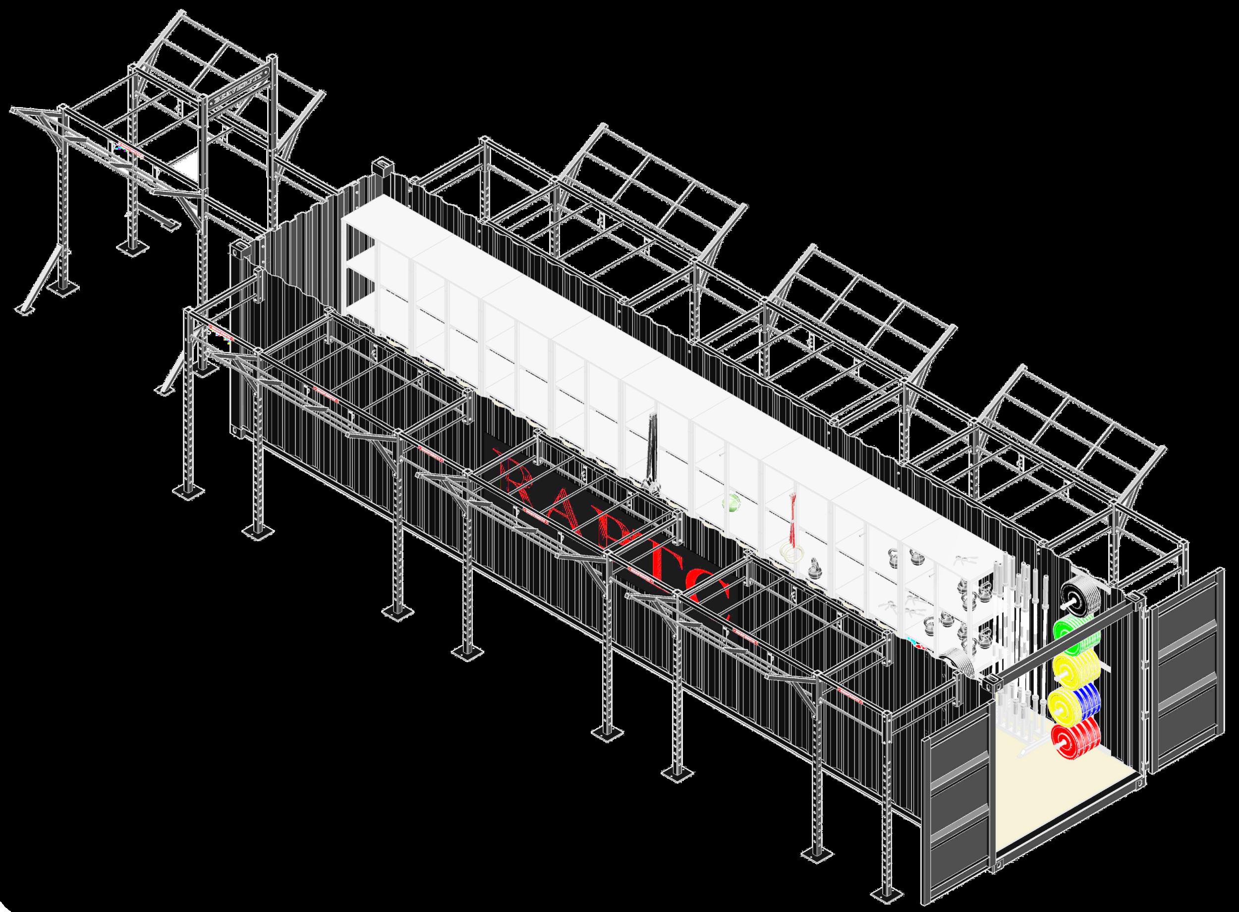 40'  Deployable  Locker Diagram