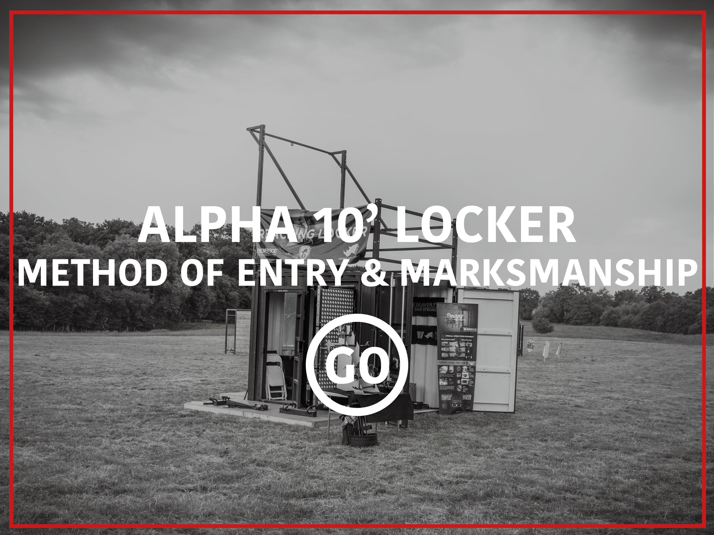 Alpha 10' Locker Breaching & Shooting  Small Box