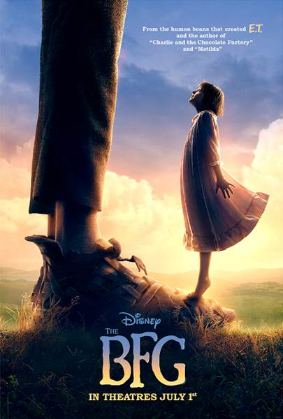 From the human beans that brought you E.T. and the author of Charlie and the Chocolate Factory and Matilda comes THE BFG!