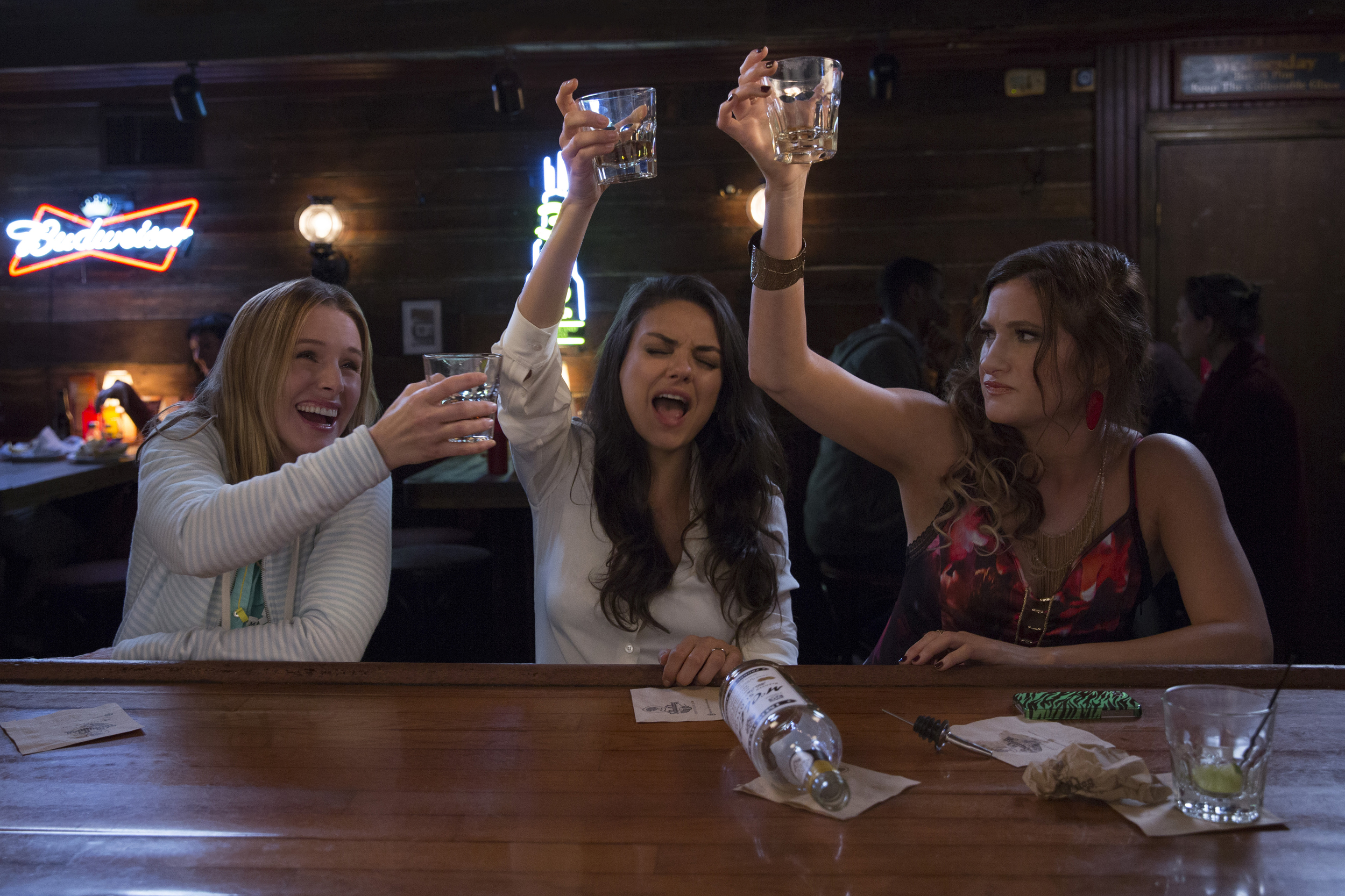 Bad Moms starring Kristen Bell, Mila Kunis, and Kathryn Hahn.