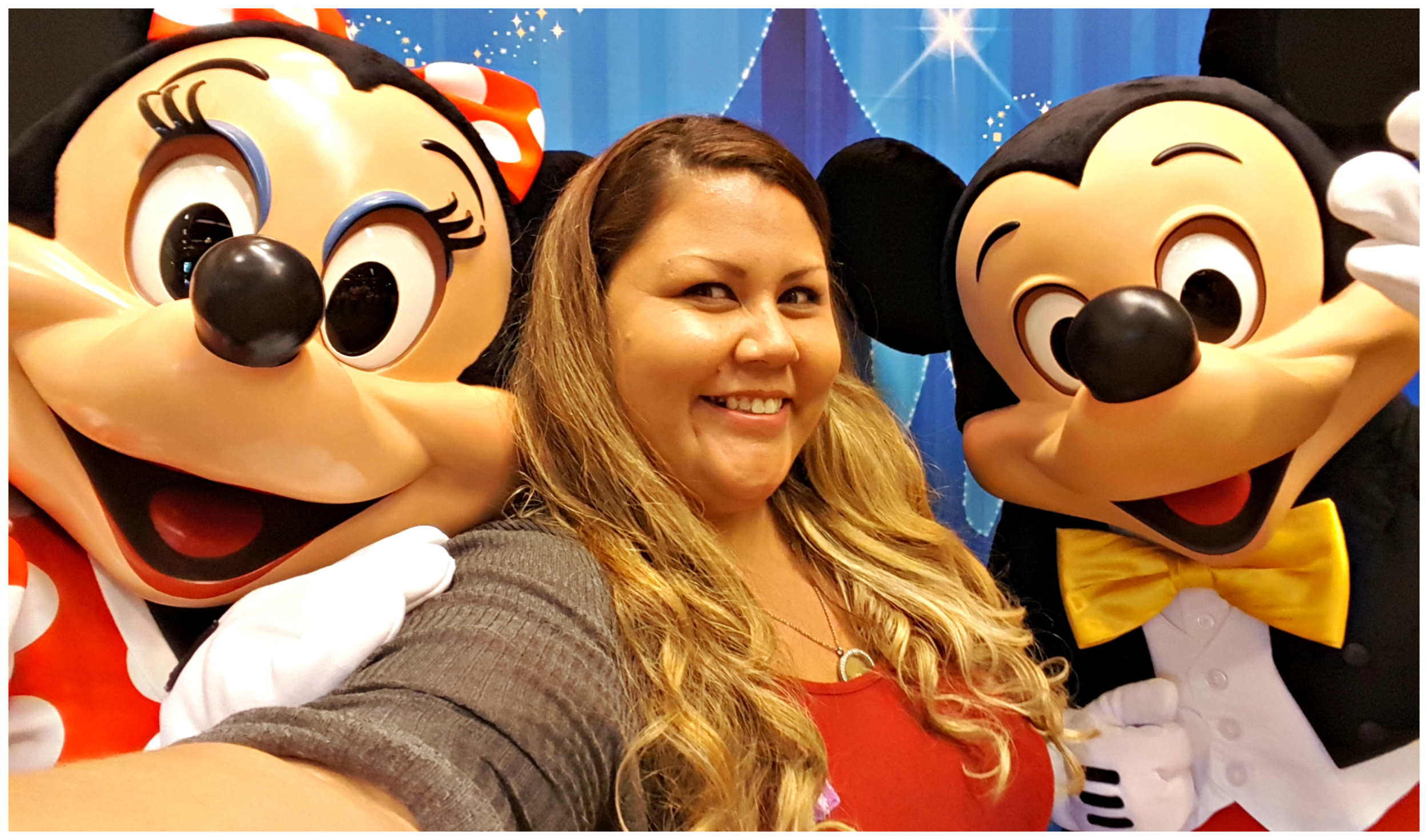 Hanging with Mickey and Minnie