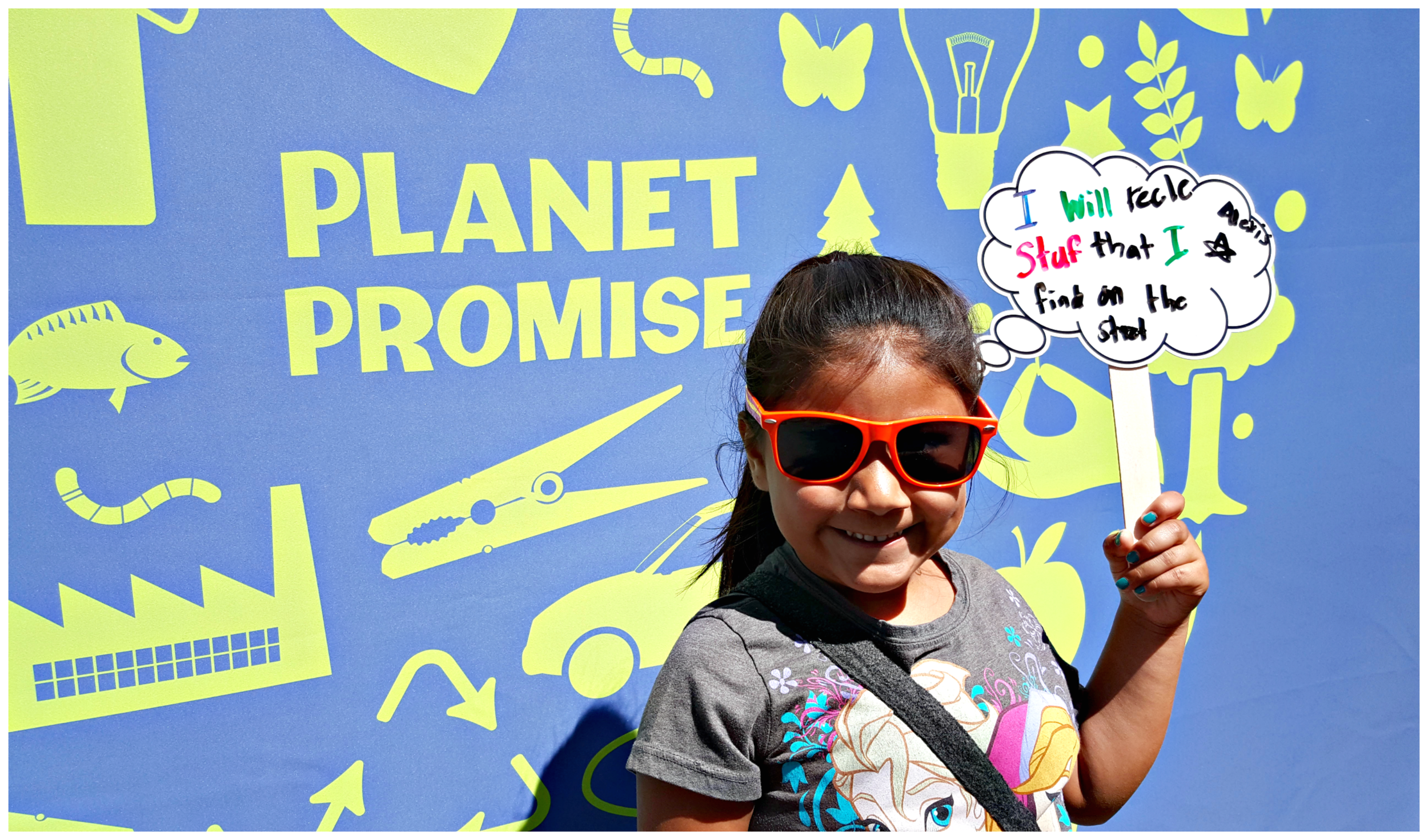 """""""I will recycle stuff that I find on the street""""   - Alexis, age 6. #LAZooPlanetPromise I know I could have technically corrected her spelling, but she'll learn eventually."""