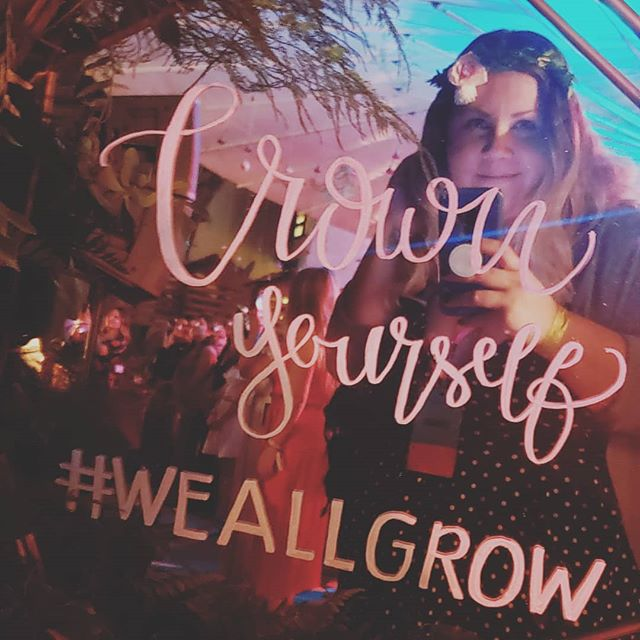 Last night was one for the books! Gracias @disruptaging, @weallgrowlatina and @prettylilthngs for helping me to crown myself and embrace the DIOSA that I am. #cinquentañeros #weallgrowsummit #WeAllGrow