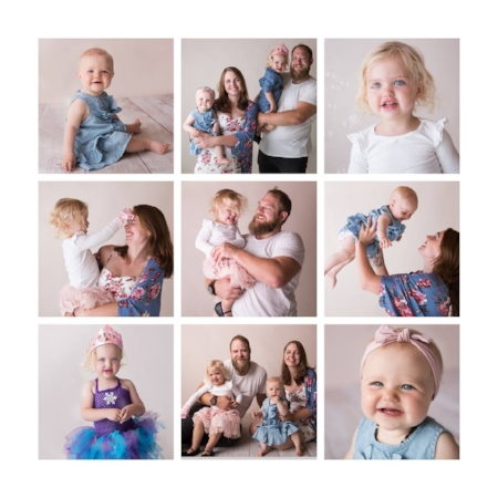 Your family photos don't have to be the old style everyone looks at the camera type images - our motto: Let's just roll with it!
