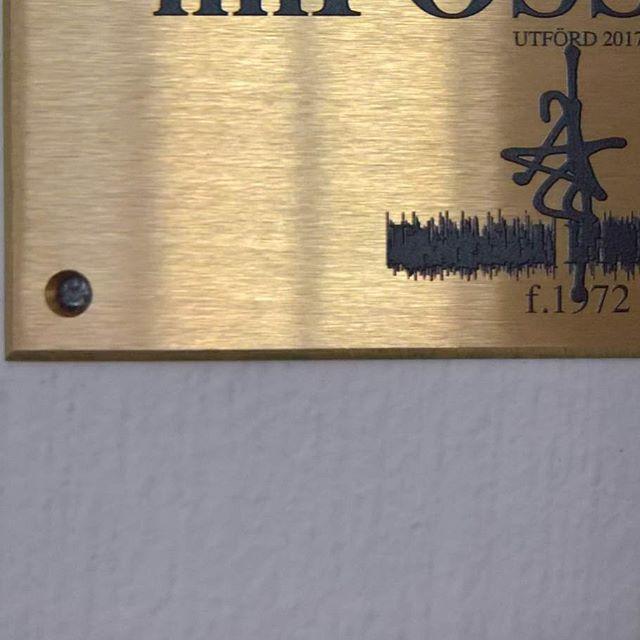 Brass plate mounted. #jagsthlm #thediagnosedgeneration #wallery #wallerygallery #contemporaryart #mural