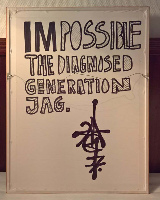 A fast one for my #hiddenartathotelproject #jagsthlm #thediagnosedgeneration #wallerygallery #wallery #imPOSSIBLE