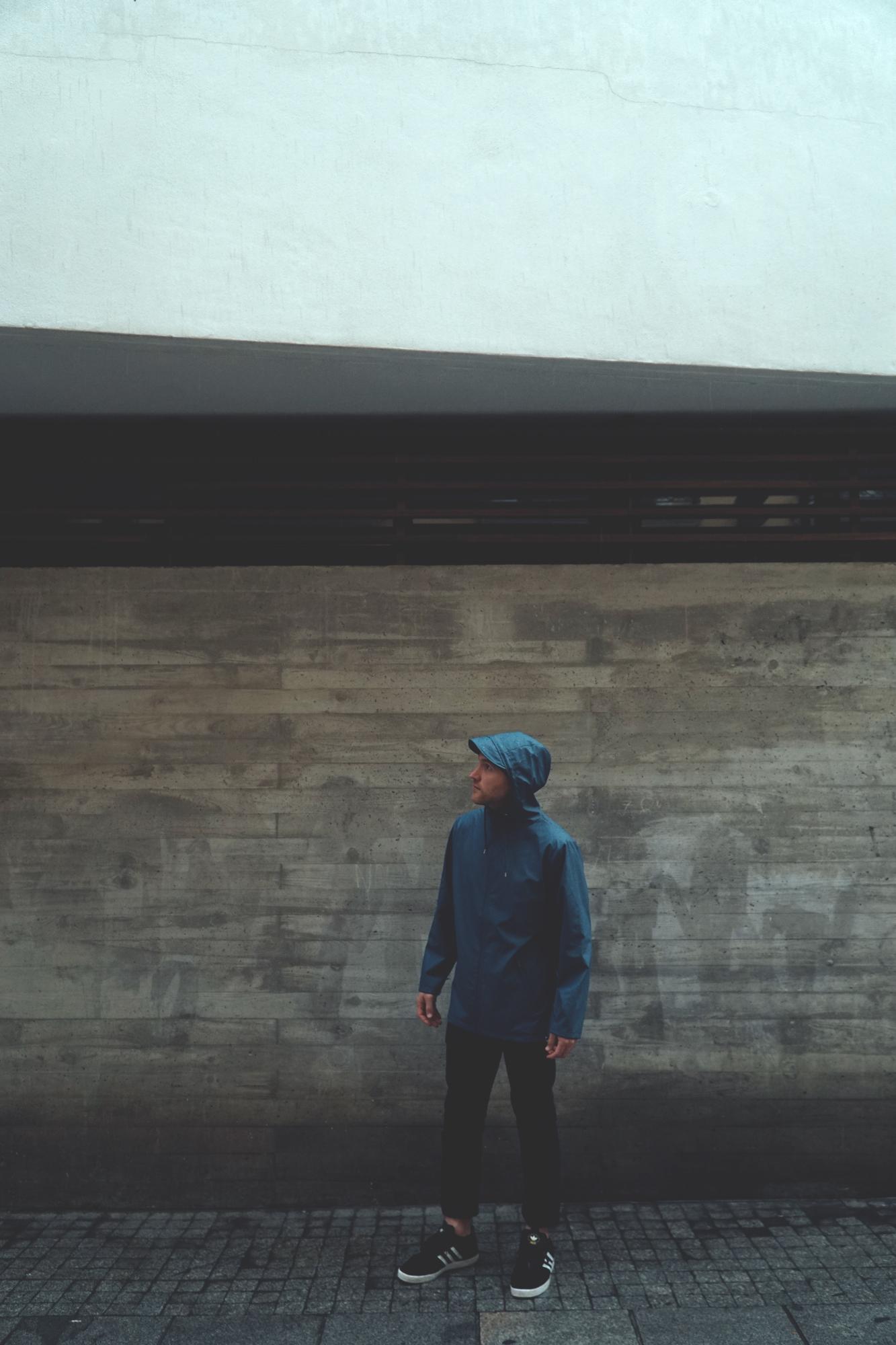 Rains Breaker Jacket in Blue