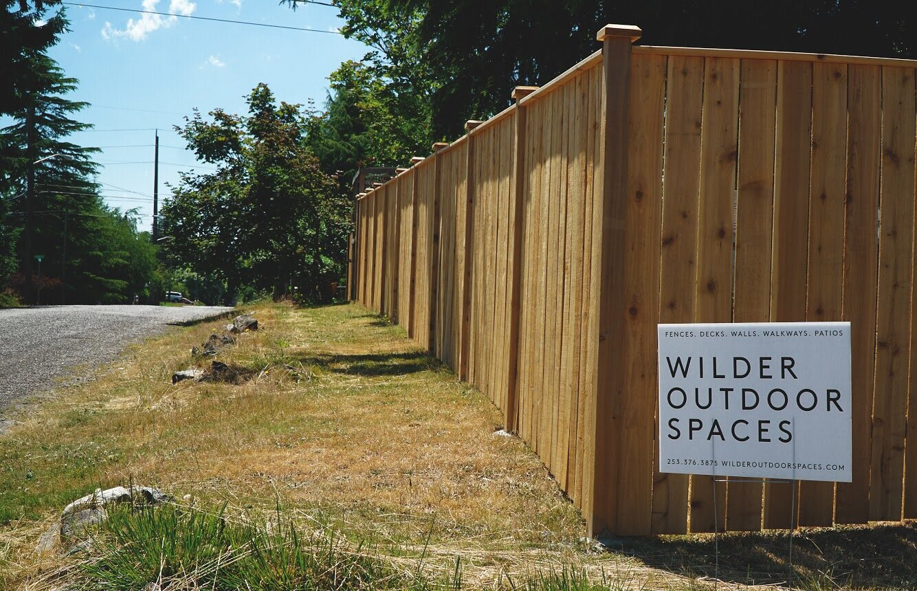Tacoma Fence Company Wilder Outdoor Spaces
