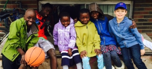 Kids from the Refuge4All Sponsor Group enjoyed Saturday afternoons playing soccer outdoors with the Ngelelo kids!