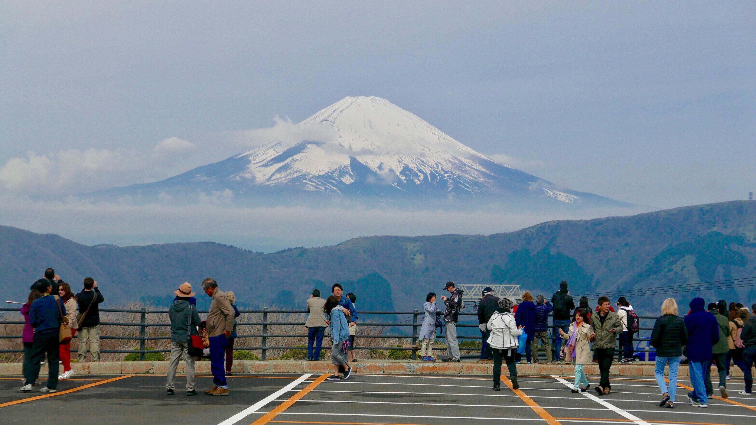 Mt Fuji from Hakone, 2017. Panasonic DMC-LX100, 34mm (70mm in 35mm equivalent)