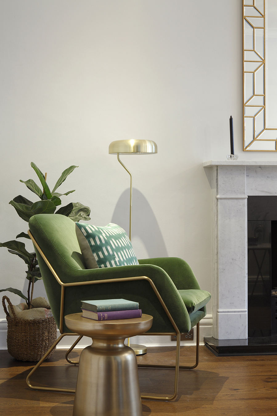 NW1 - Living room - displaying the reading corner with green velvet armchair.jpg