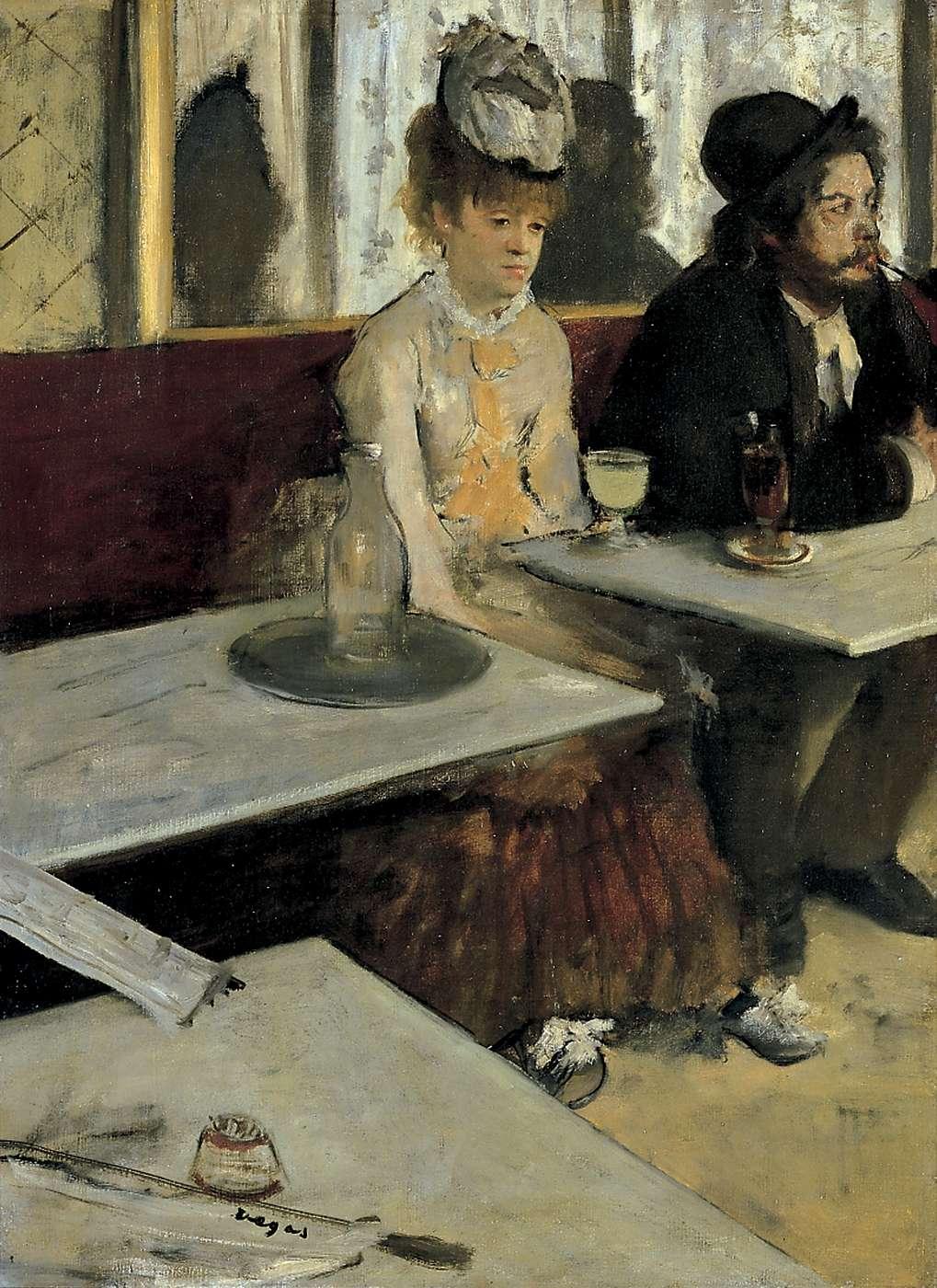 L'Absinthe, Edgar Degas,1875-76