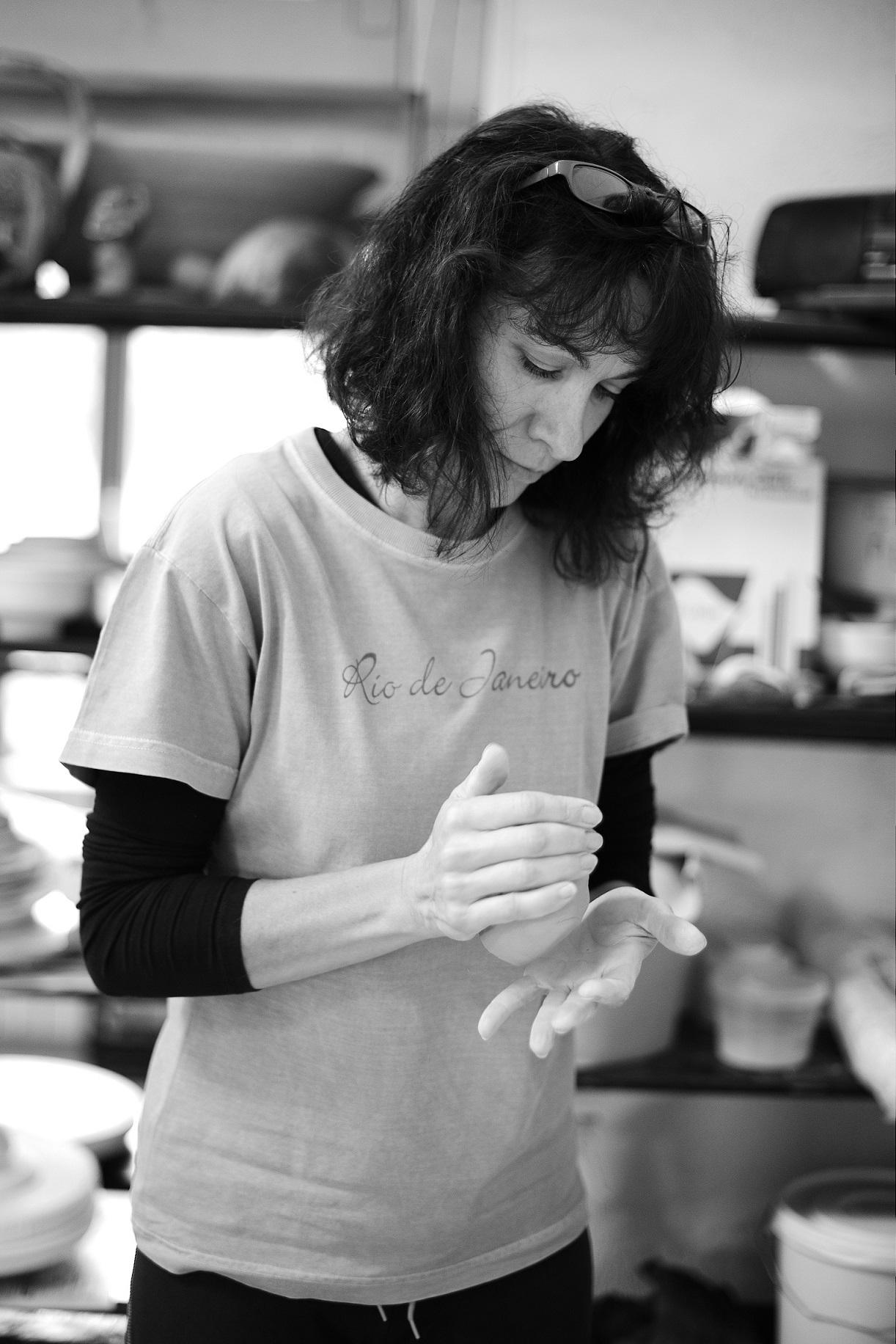 Ana-Belén in her workshop