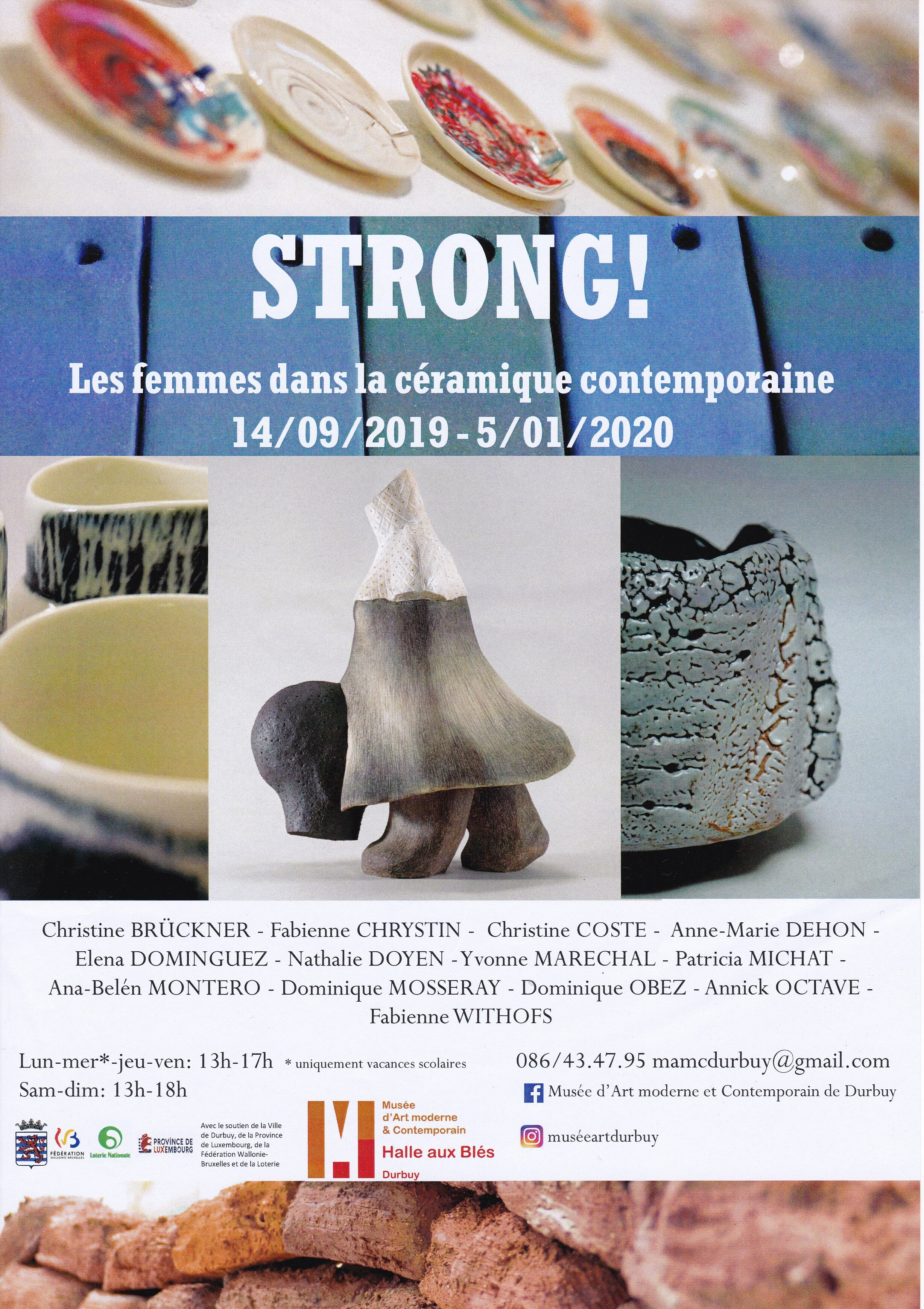 Affiche Strong exposition céramique Durbuy 2019