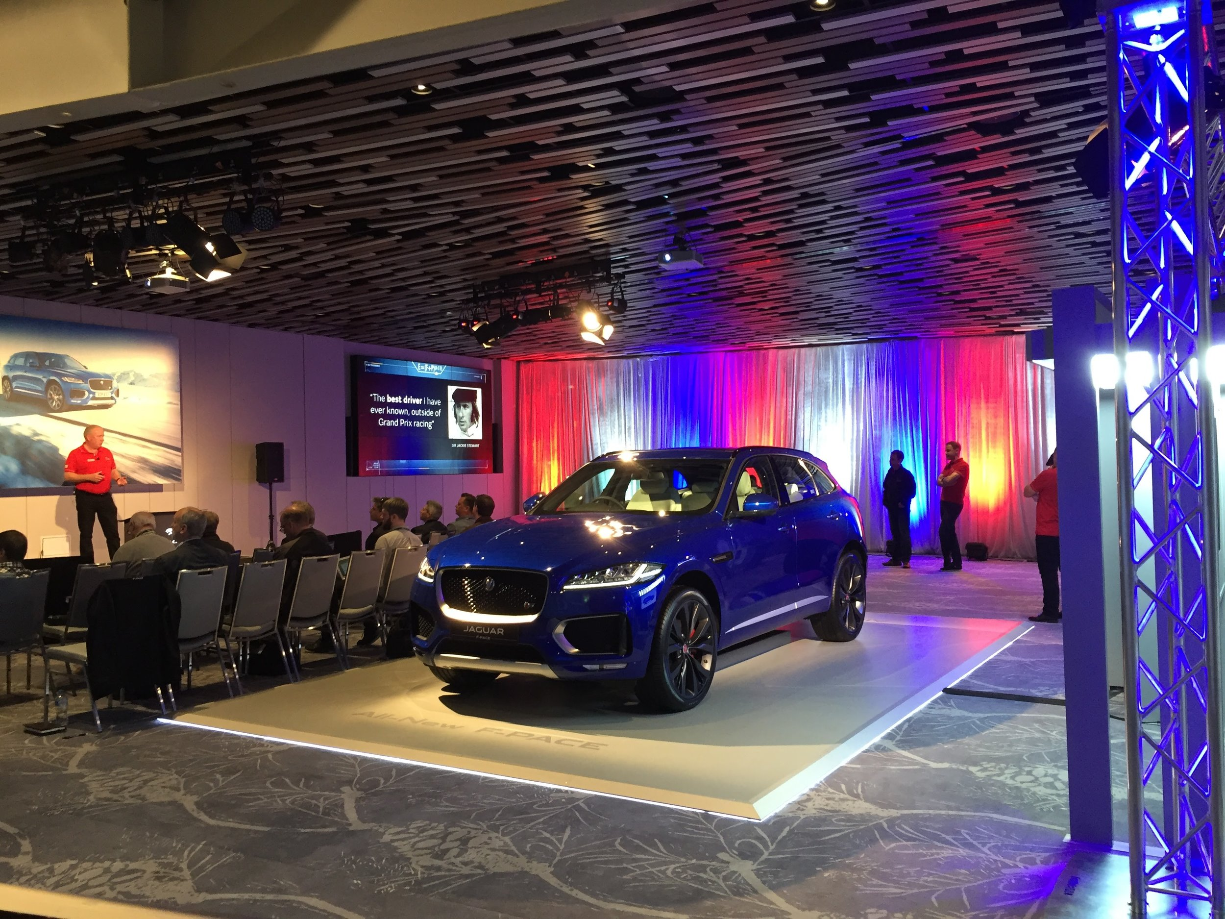 Jaguar F-Pace Car launch July 2016