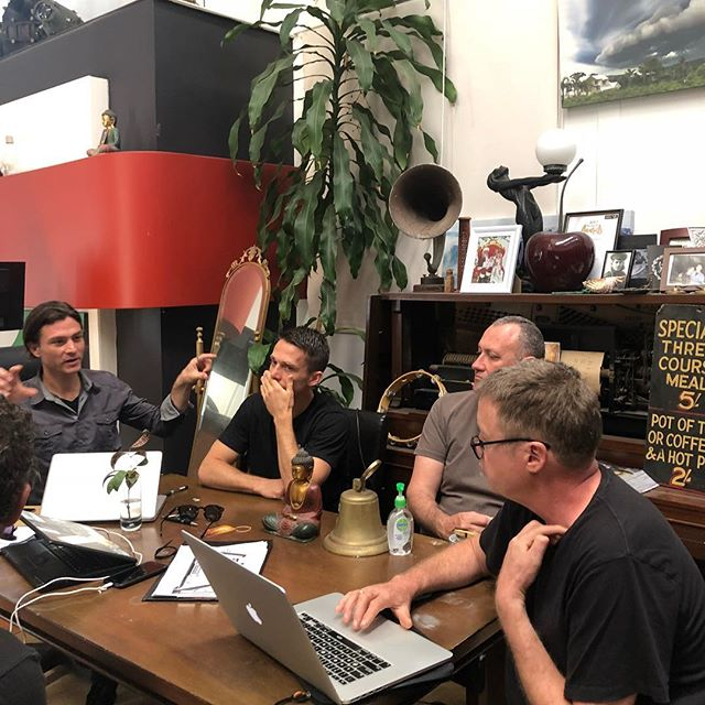 Production meetings. Where the #magichappens. There are an insane amount of logistics required to make a large, technical event work. These guys are brilliant. #gratitude #events #byronbay #lightingdesign
