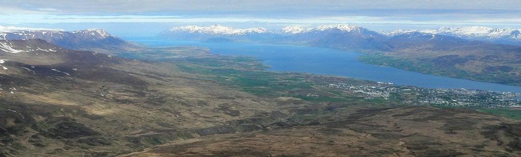 Eyjafjörður and Akureyri seen from Súlur ©  Ævar Arnfjörð Bjarmason