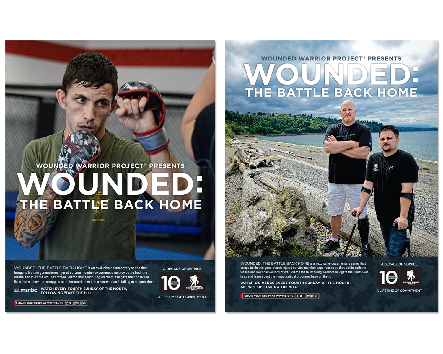 """National Ads for """"Wounded: The Battle Back Home"""" TV Series"""