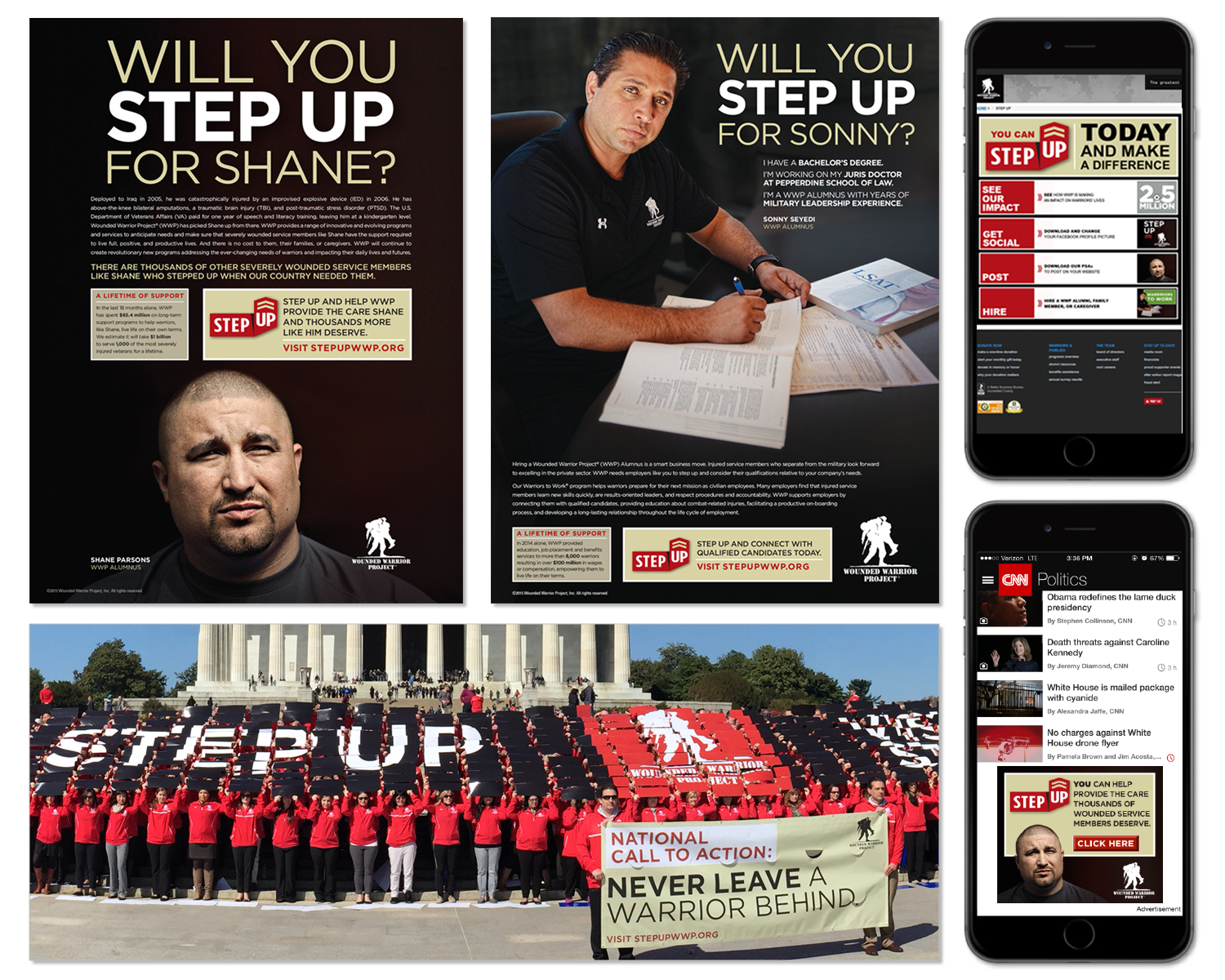"""National Branding and Advertising for """"STEP UP"""" Campaign"""