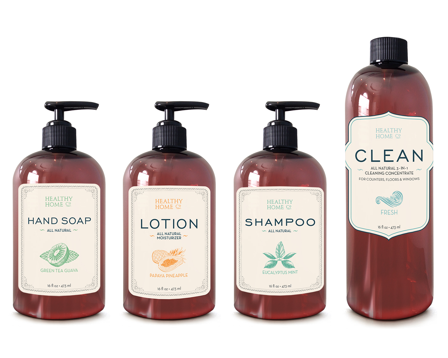 Complete Rebrand and Package Redesign for Natural Products Line