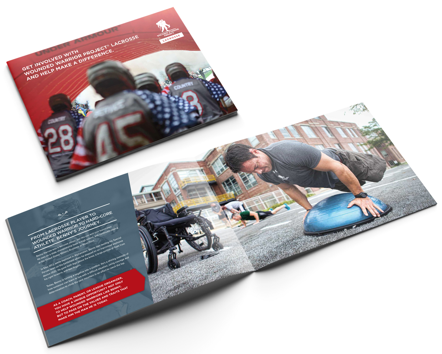 National Branding and Ad Campaign For WWP Lacrosse (Brochure Pictured)