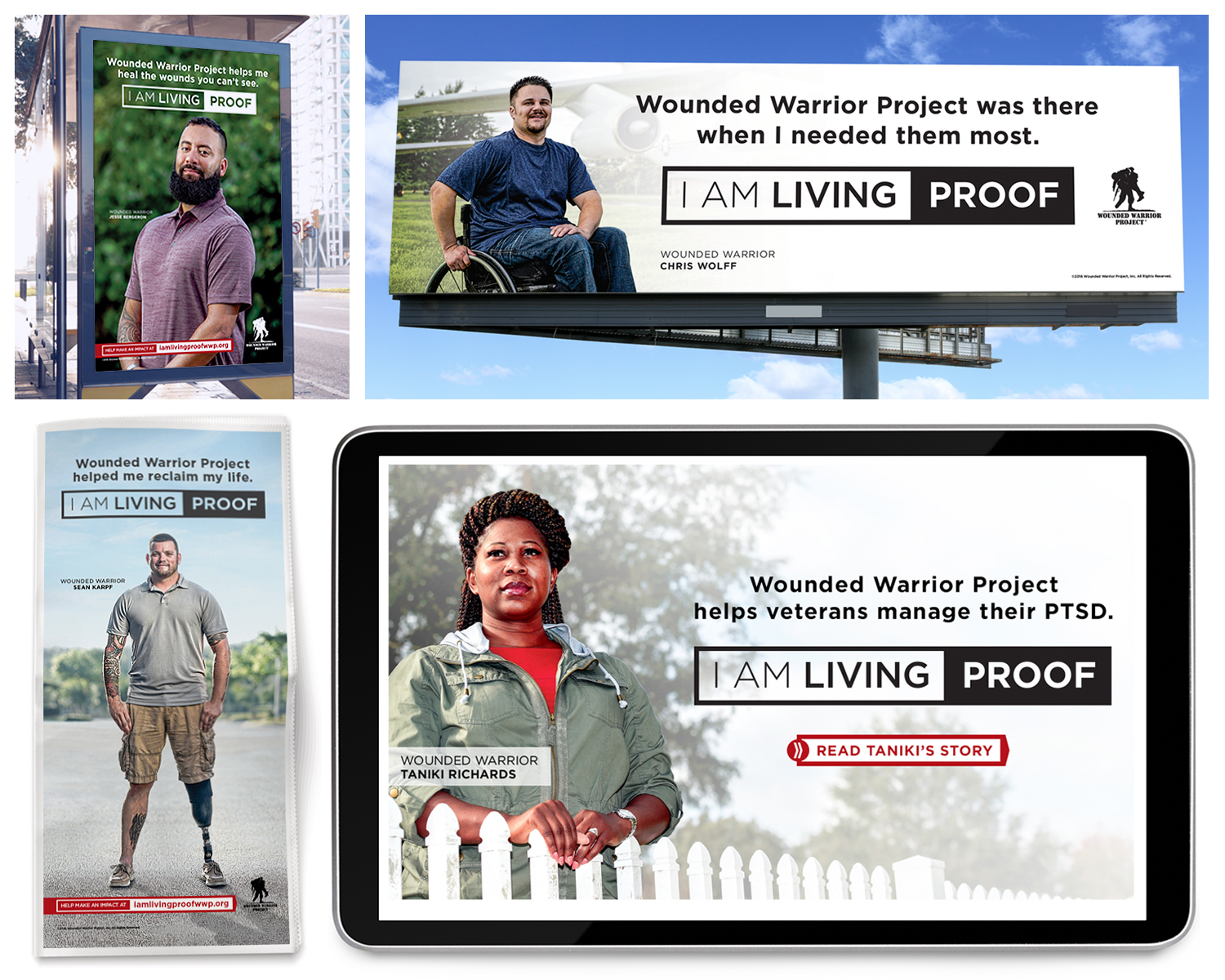 """National Branding and Advertising for """"I AM LIVING PROOF"""" Campaign"""