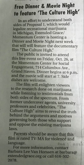 Free Dinner and Movie Night to Feature 'Culture High'