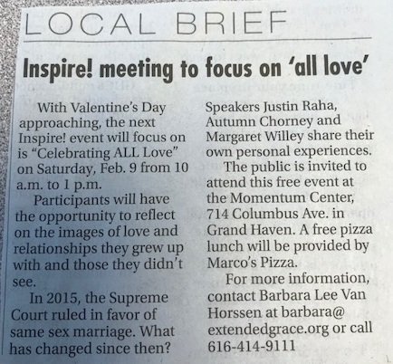 Inspire! meeting to focus on 'all love'