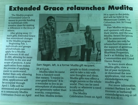 Extended Grace relaunches Mudita