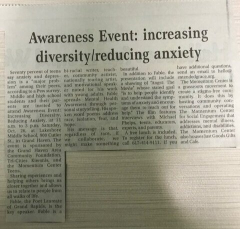 Awareness Event: increasing diversity/reducing anxiety