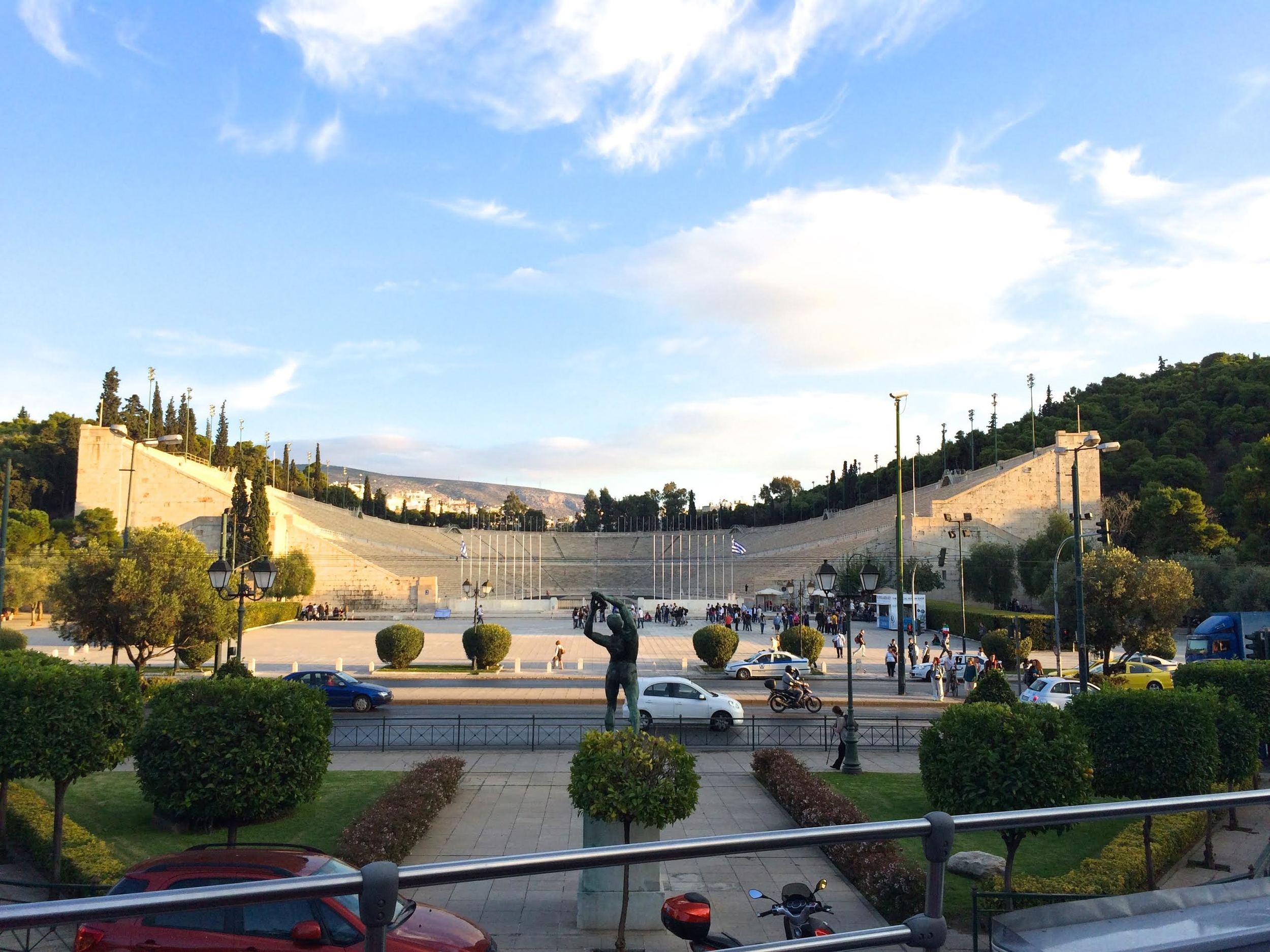 Reconstructed Panathenaic Games stadium which hosted the first modern Olympic Games in Athens in 1896.